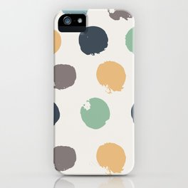 Abstract Dots Pattern iPhone Case
