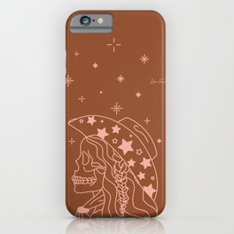 Love or Die Tryin' - Rhinestone Cowgirl - Rust & Peach iPhone Case