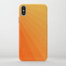 Shades of Sun - Line Gradient Pattern between Light Orange and Pale Orange iPhone Case