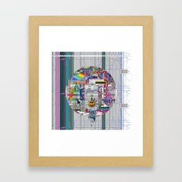 grey mandala 2 Framed Art Print