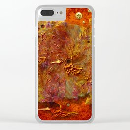 Abstract disc Clear iPhone Case
