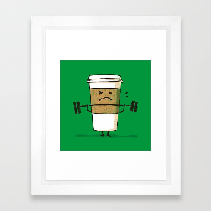 Strong Coffee Framed Art Print
