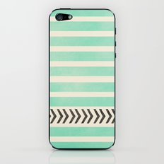 MINT STRIPES AND ARROWS iPhone & iPod Skin