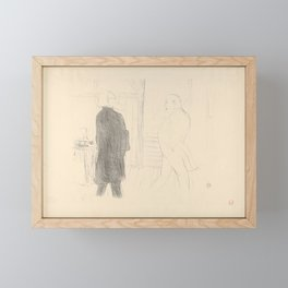 André Antoine and Fermin Gémier in  A Bankruptcy 1893 Framed Mini Art Print