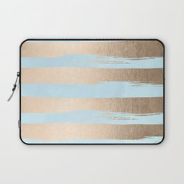 Paint Stripes Gold Tropical Ocean Sea Turquoise Laptop Sleeve