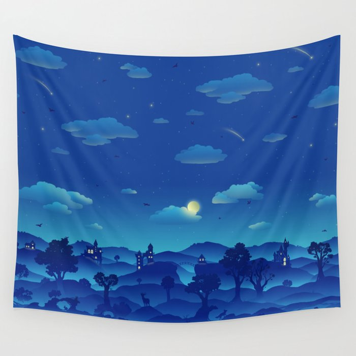 Fairytale Dreamscape Wall Tapestry