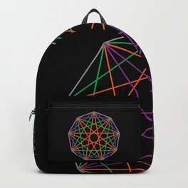 Nonagon Triad Black Backpack