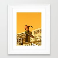snowboarding Framed Art Prints featuring City Snowboarding by Jphotoz