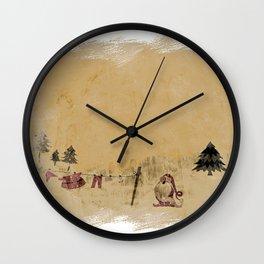 Vintage Santa clothesline Wall Clock