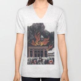 Thalia in Flames Unisex V-Neck