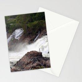 Mekong River Li Phi Waterfalls, Laos Stationery Cards
