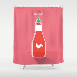 In My Fridge - Sriracha Sauce Shower Curtain