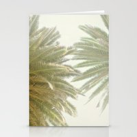 palm trees Stationery Cards featuring Palm Trees by The ShutterbugEye
