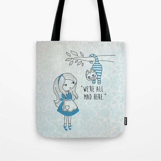 Alice and Cat Tote Bag