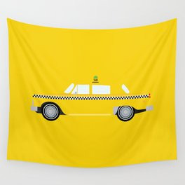 New York Yellow Taxi Wall Tapestry