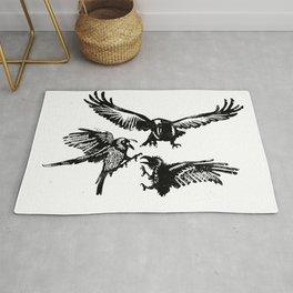 Crow Parliament Rug