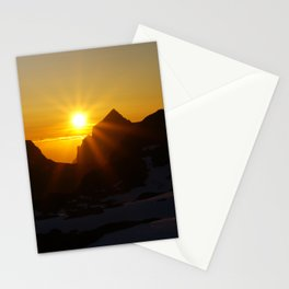 The midnight sun Stationery Cards