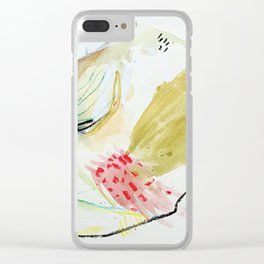 Day 52: peaks and valleys. Clear iPhone Case