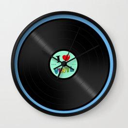 I Love Vinyl Wall Clock
