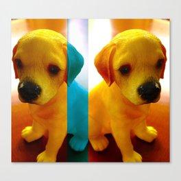 Pup Blues Canvas Print
