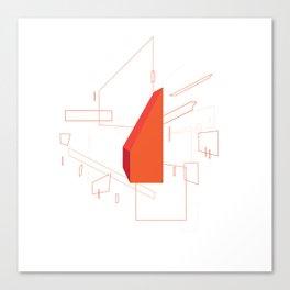 Blueprint #2 (red) Canvas Print
