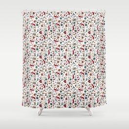 Hand Drawn Hygge Christmas Pattern Shower Curtain
