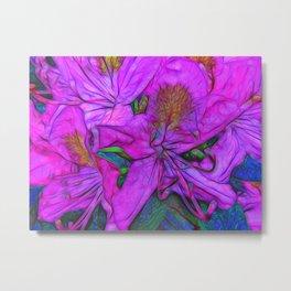 Rhododendron Fuscia Pink Metal Print