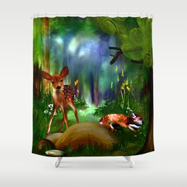 Forest Fawns Shower Curtain