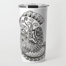 Zentangle Bird Travel Mug