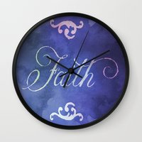 faith Wall Clocks featuring Faith by Camille