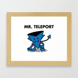 Mr. Teleport Framed Art Print