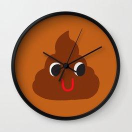 Cute Poop Wall Clock