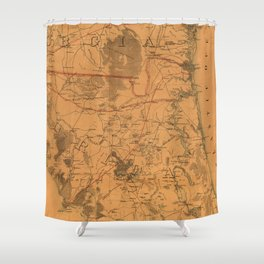 Vintage Map of Northern Florida (1864) Shower Curtain
