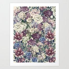 Flowers pattern - love i! Art Print