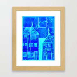 Up On A Roof:# 18 from children will play.  Framed Art Print