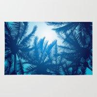 palms Area & Throw Rugs featuring Palms by Tat Georgieva