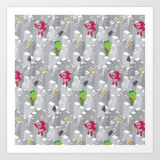 Cute disaster pattern Art Print