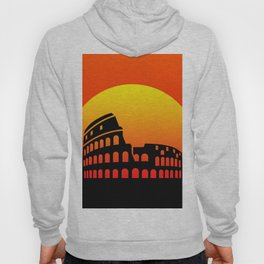Sunset and colosseum in a red sky Hoody