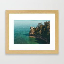 Pictured Rocks Framed Art Print