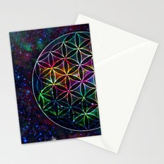 Flower of Life in the Universe - Universe in the Flower of Life Stationery Cards