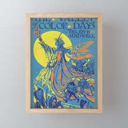 The Valley of Color Days Book Framed Mini Art Print