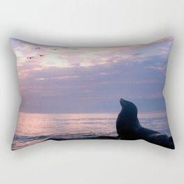 La Jolla Sea Lion Rectangular Pillow