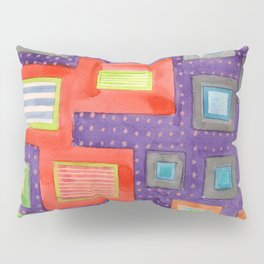 Various Frames on dotted Wall Pillow Sham