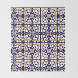 Talavera Mexican Tile Throw Blanket
