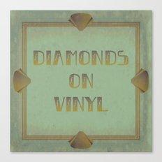 Diamonds on Vinyl Canvas Print