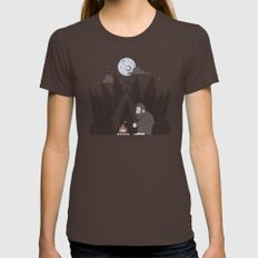 Forest Life MEDIUM Brown Womens Fitted Tee