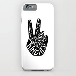 Peace Sign Hand iPhone Case