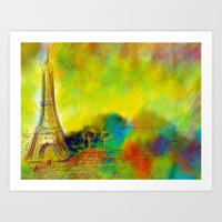 eiffel Art Prints featuring Eiffel by Alexandre Reis