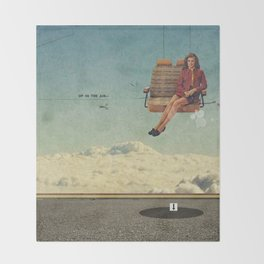 Up In The Air | Collage Throw Blanket