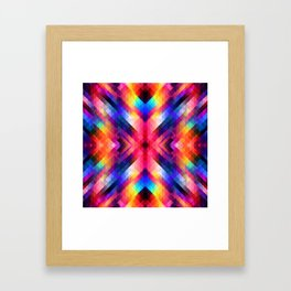 PSYCHO GEOMETRY Framed Art Print